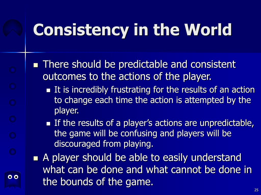 Consistency in the World