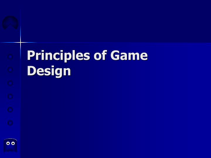 Principles of game design