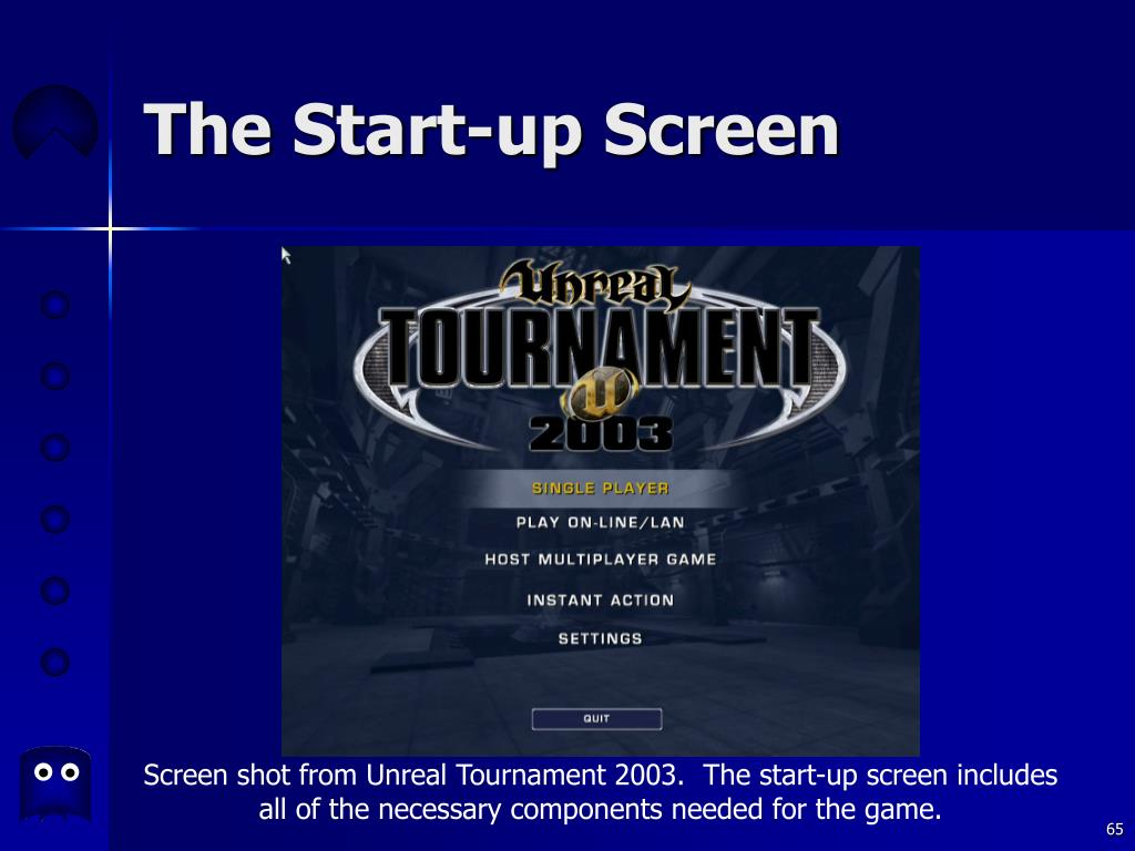 The Start-up Screen