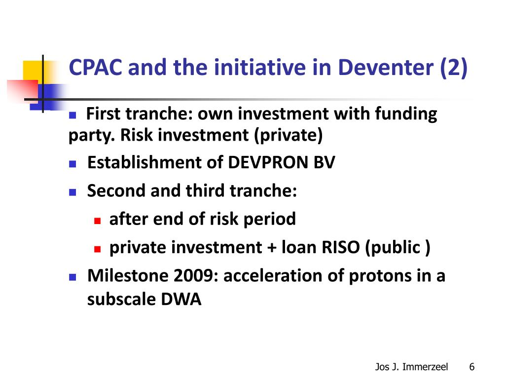 CPAC and the initiative in Deventer (2)