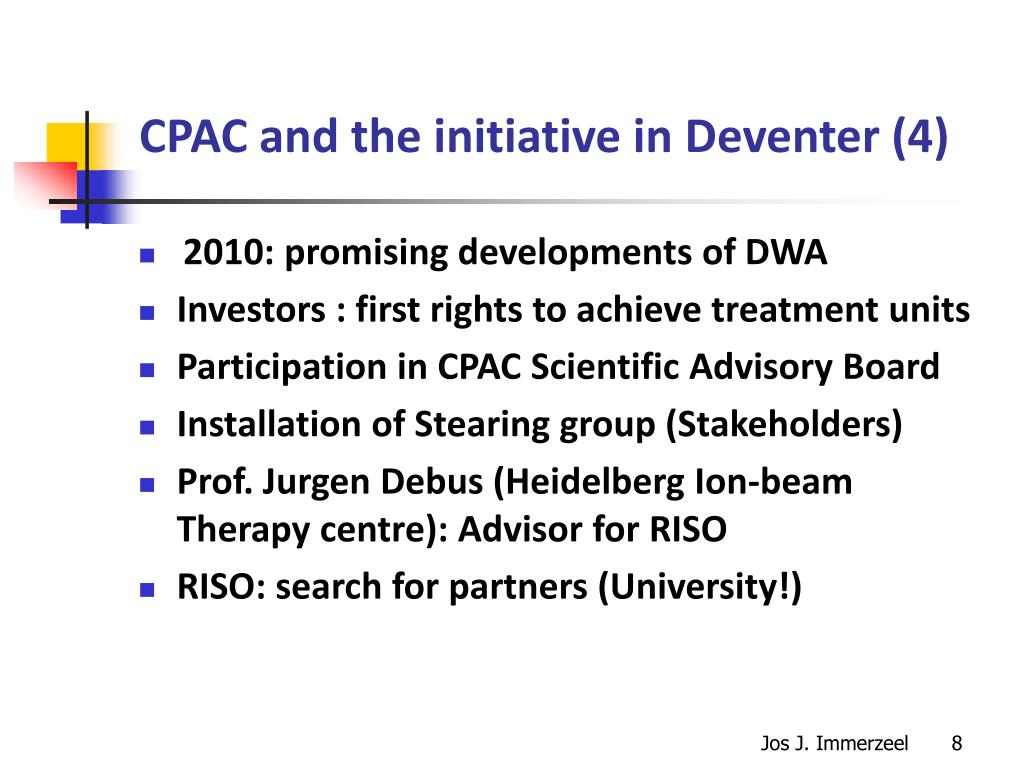 CPAC and the initiative in Deventer (4)