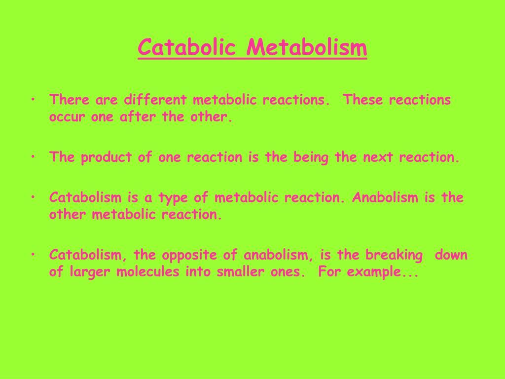Catabolic Metabolism