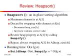 review heapsort
