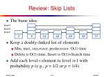 review skip lists1