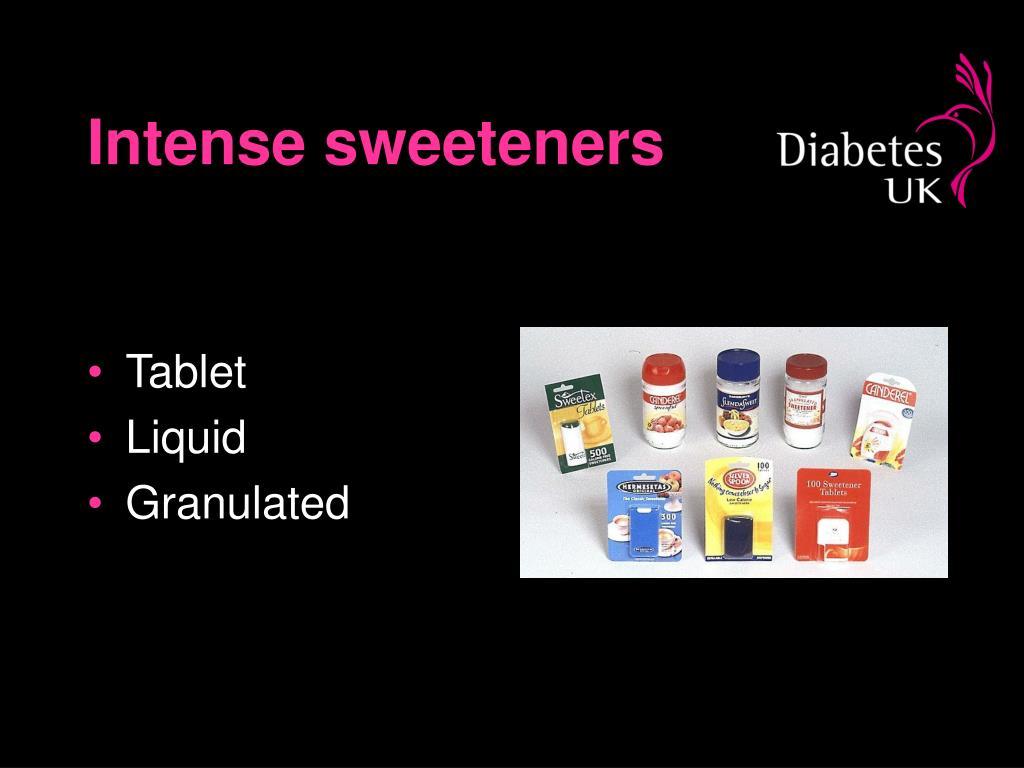 Intense sweeteners