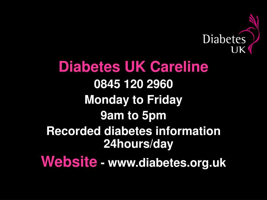 Diabetes UK Careline