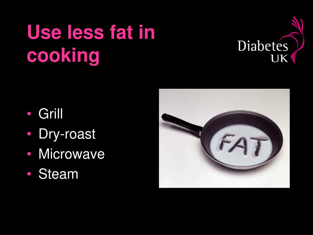 Use less fat in cooking