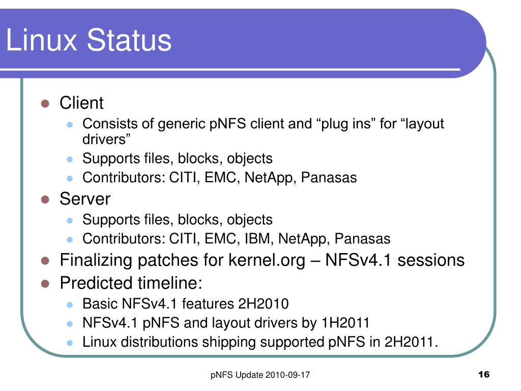 Linux Status