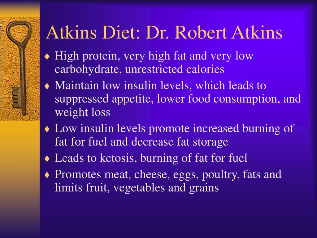 Atkins Diet: Dr. Robert Atkins