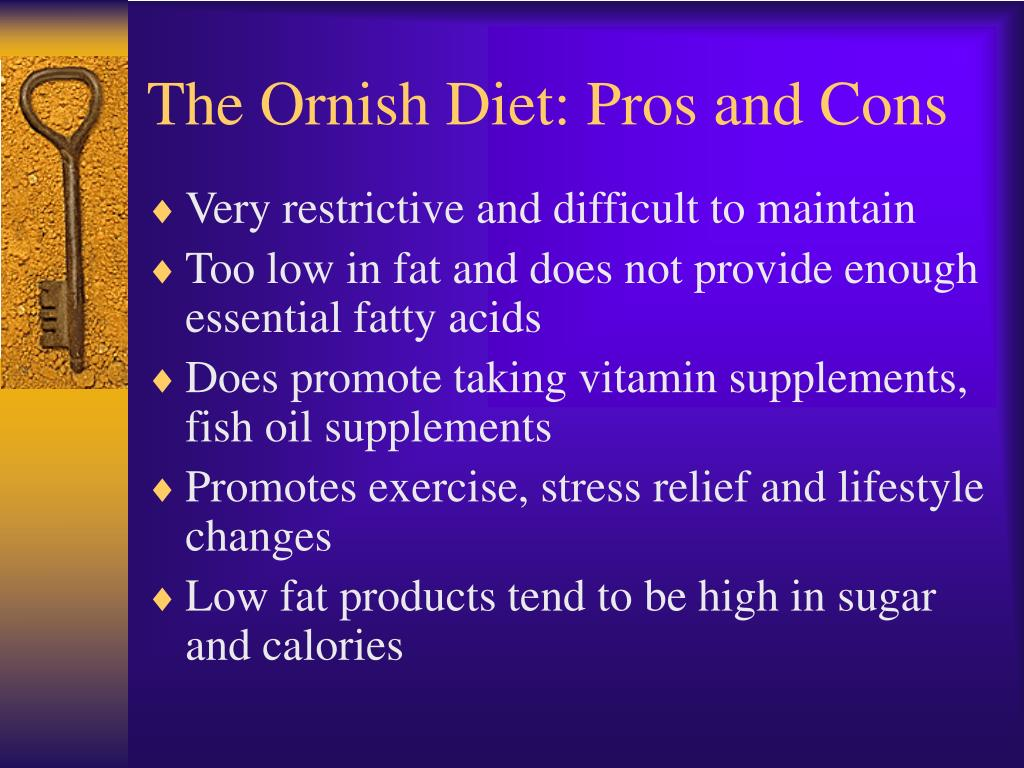 The Ornish Diet: Pros and Cons