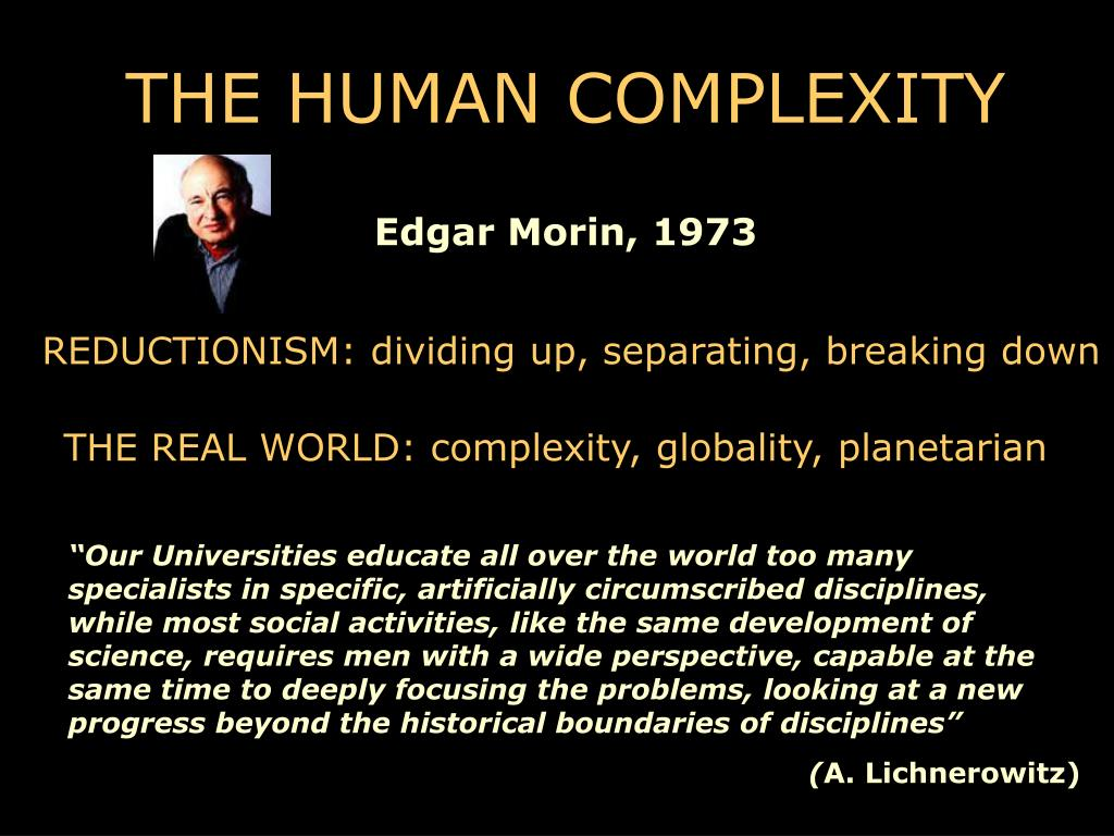 THE HUMAN COMPLEXITY