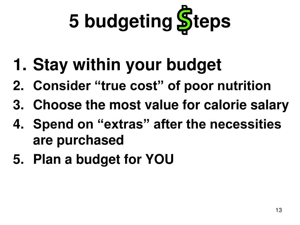 5 budgeting    teps