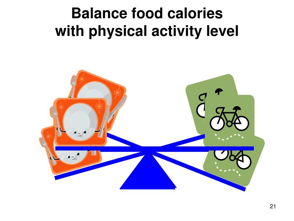 Balance food calories