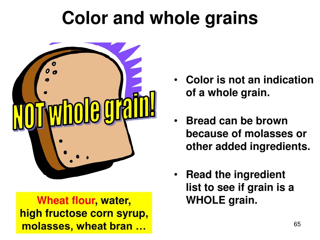 Color and whole grains