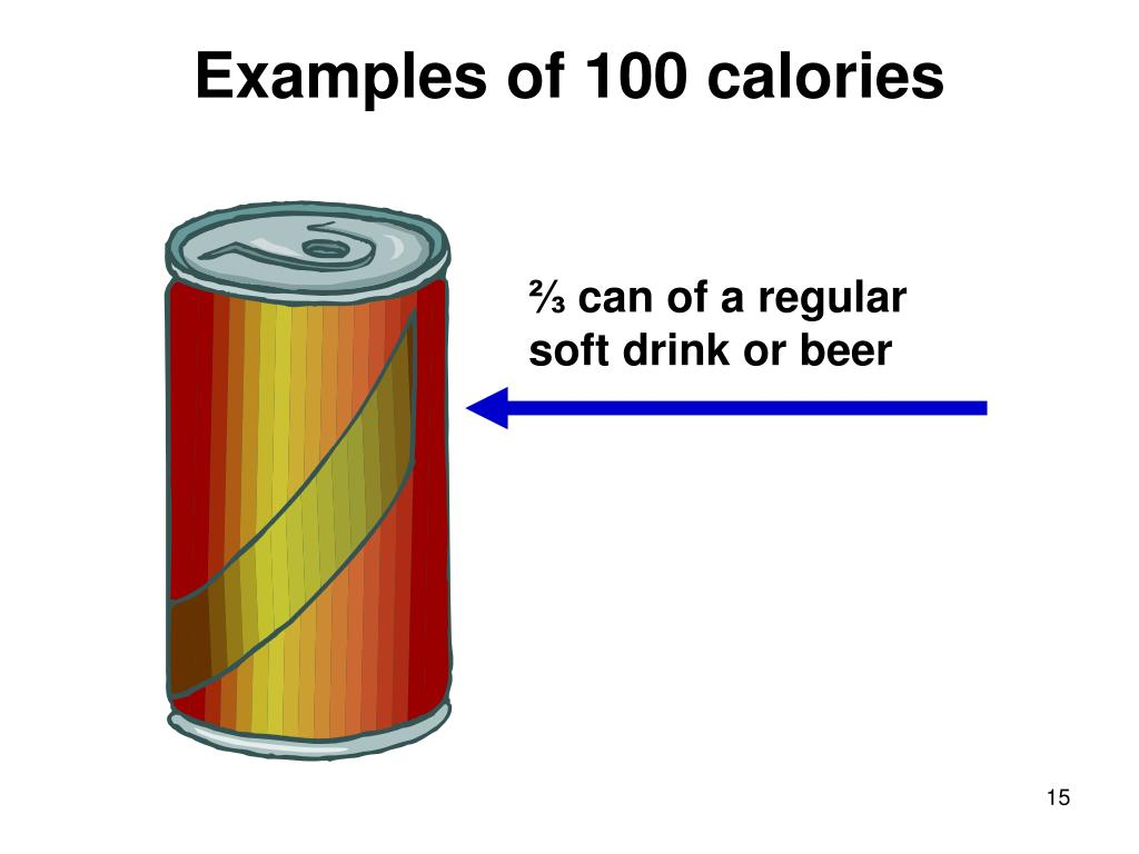Examples of 100 calories