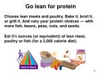 go lean for protein