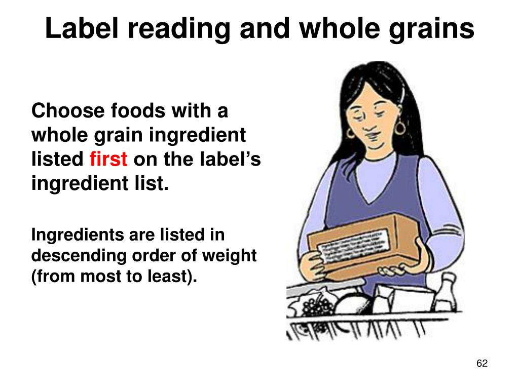 Label reading and whole grains