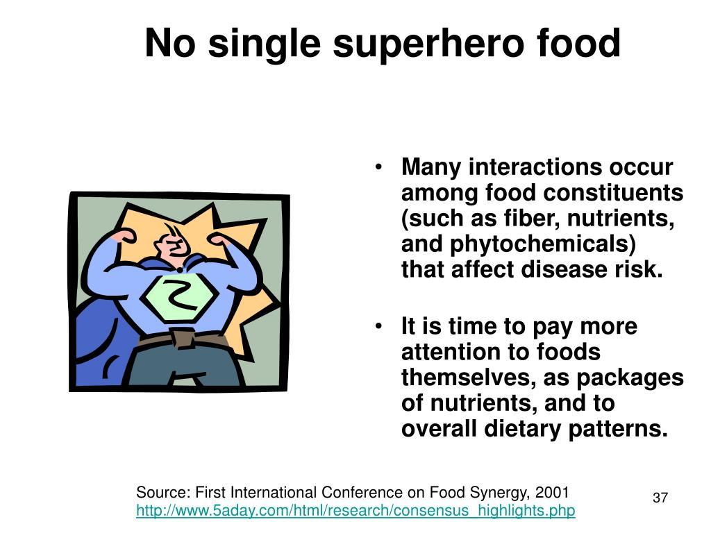 No single superhero food