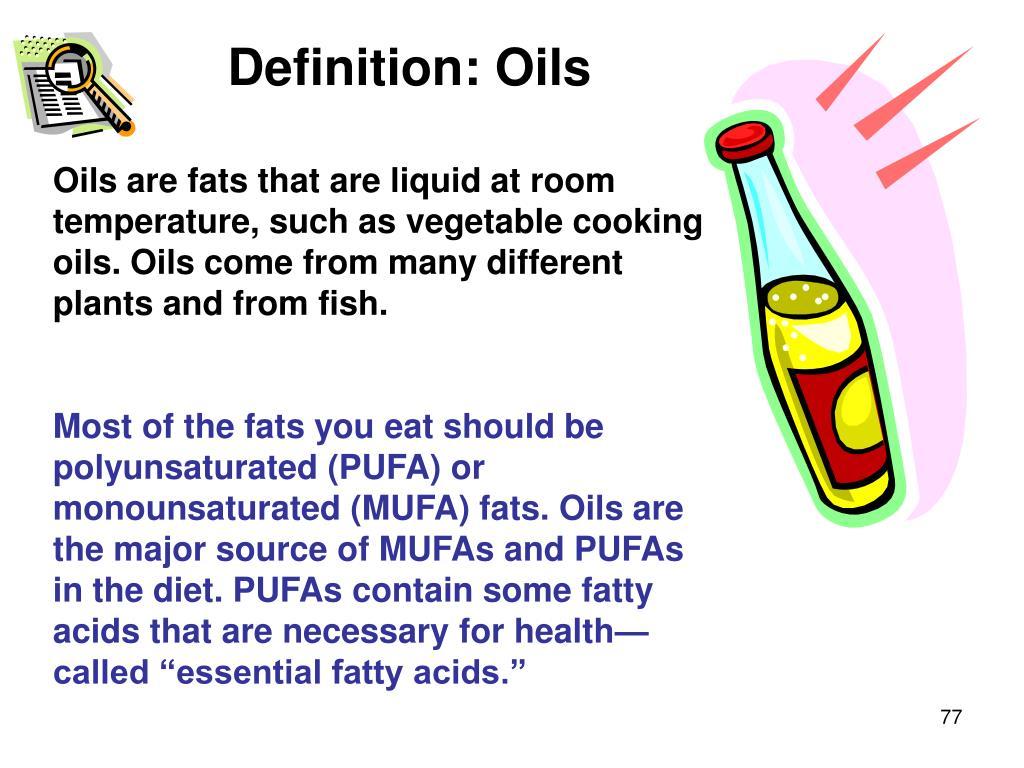 Definition: Oils