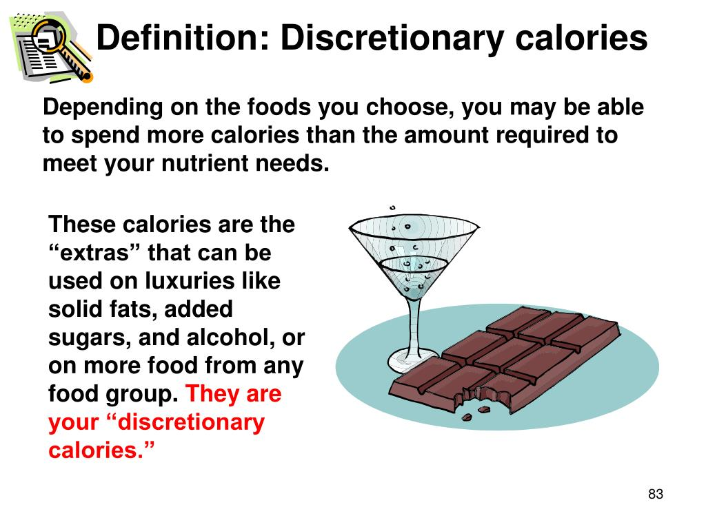 Definition: Discretionary calories