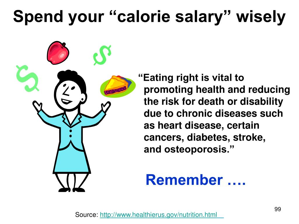"Spend your ""calorie salary"" wisely"