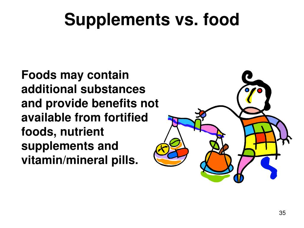 Supplements vs. food