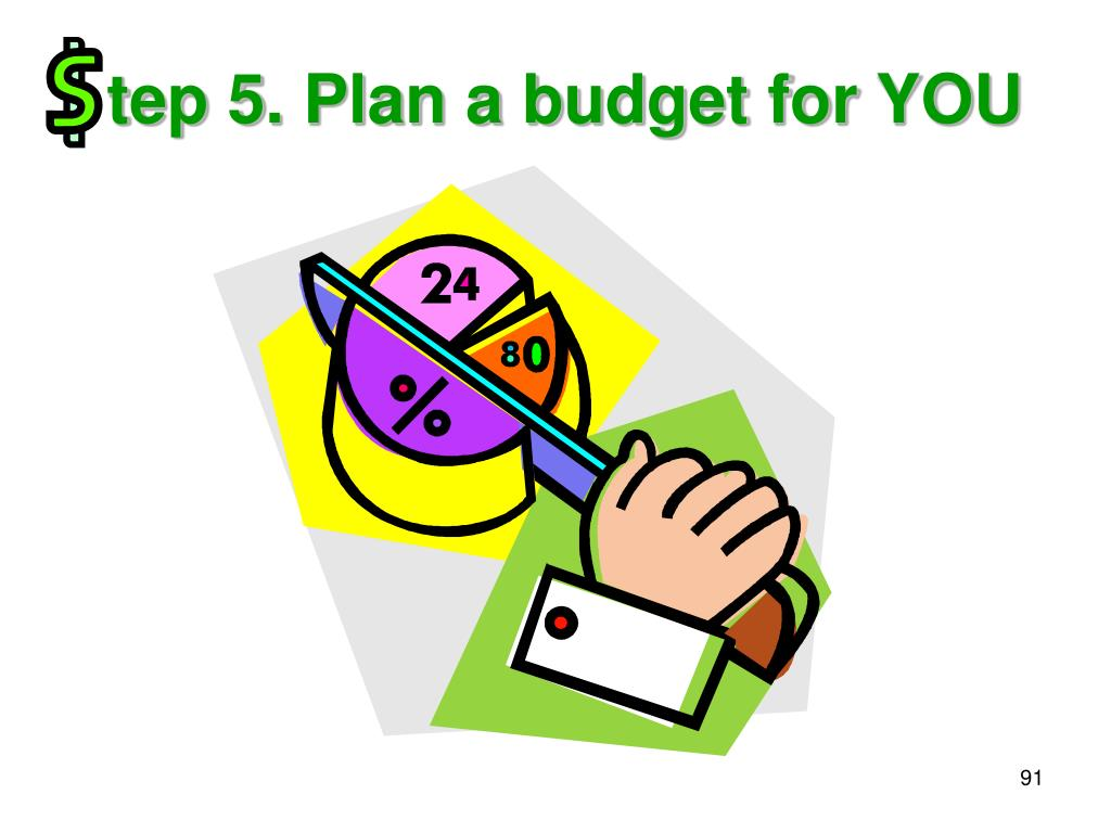 tep 5. Plan a budget for YOU