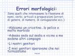 errori morfologici