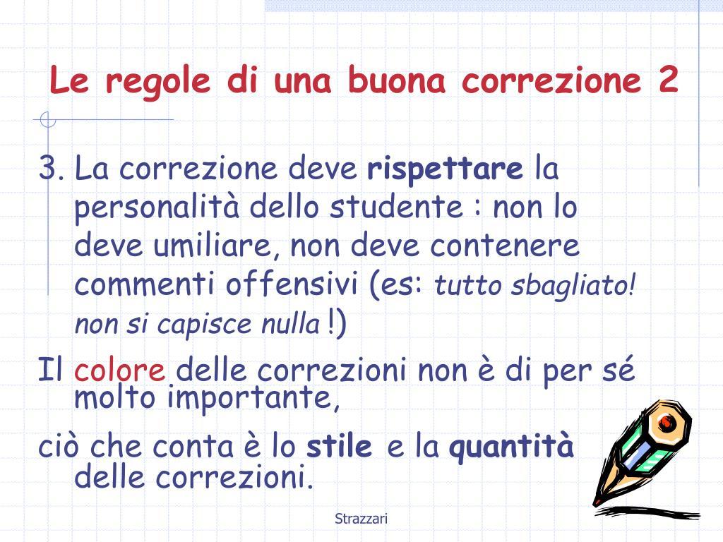 Le regole di una buona correzione 2
