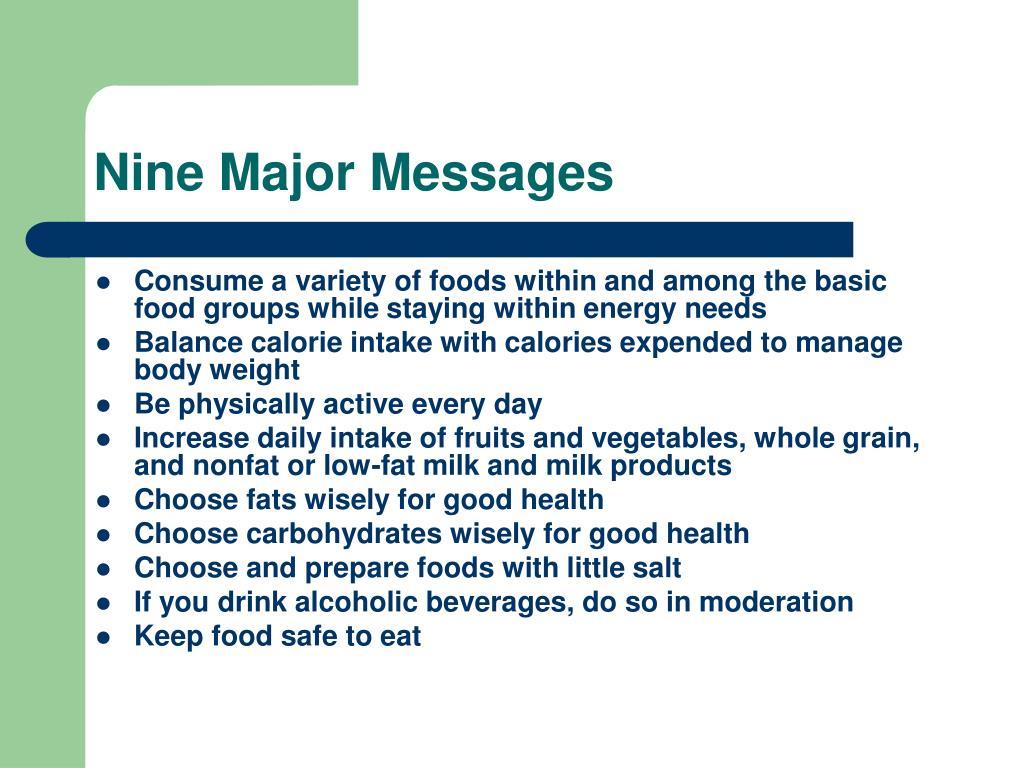 Nine Major Messages