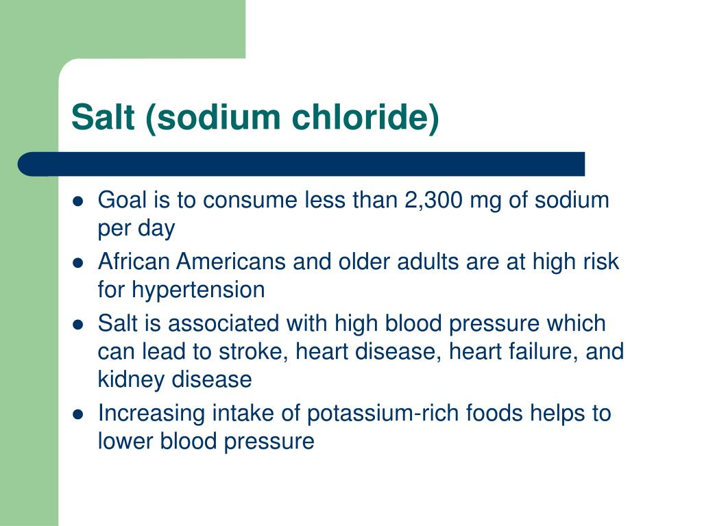 Salt (sodium chloride)