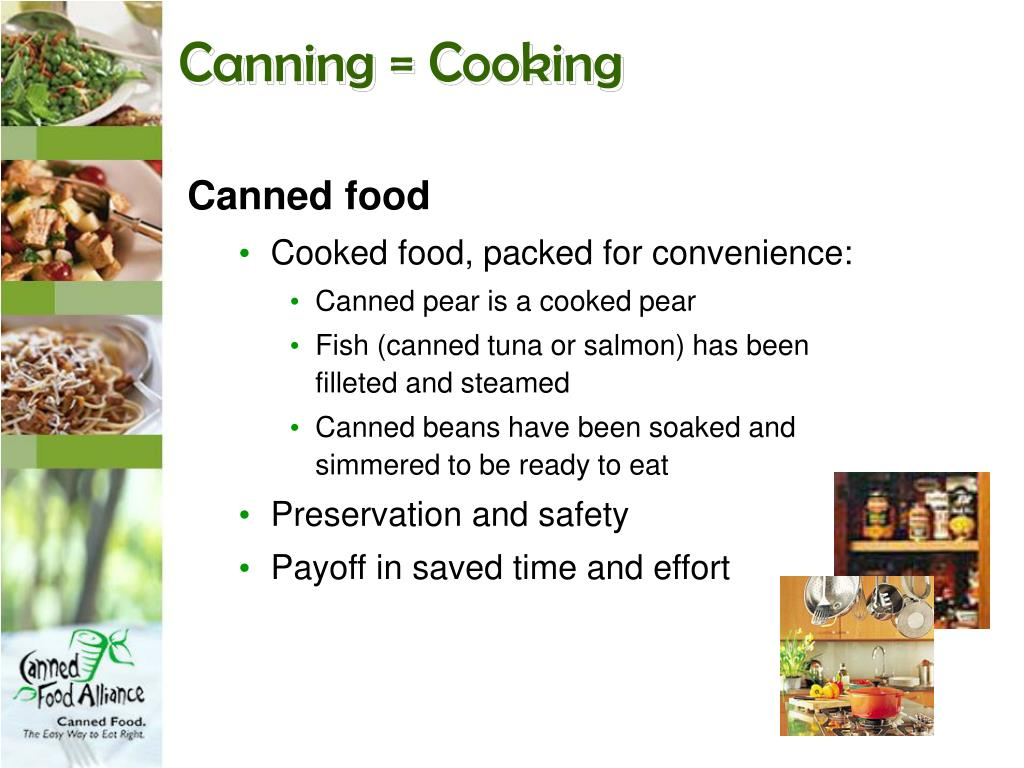 Canning = Cooking