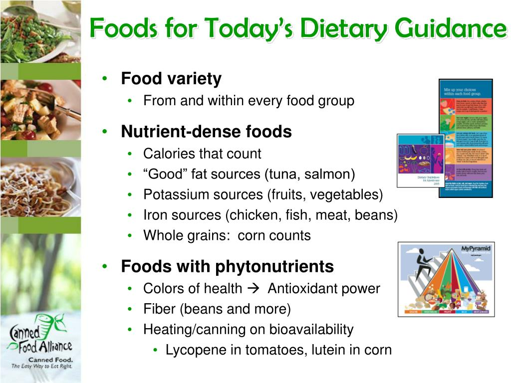 Foods for Today's Dietary Guidance