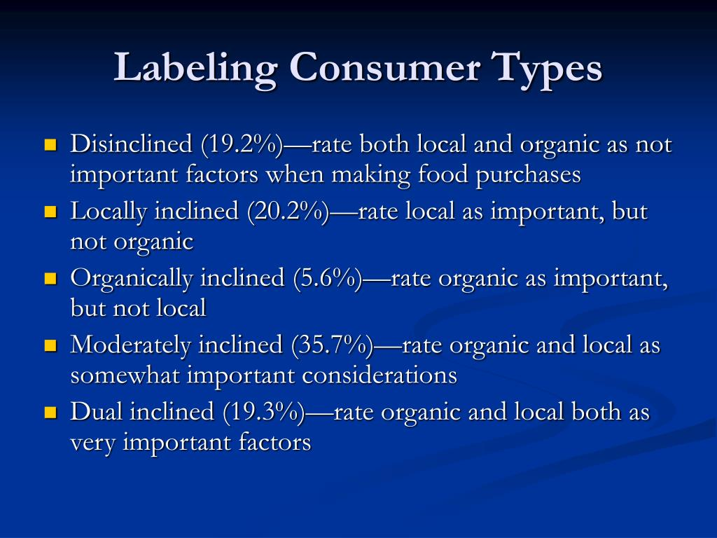 Labeling Consumer Types