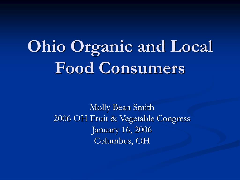 Ohio Organic and Local Food Consumers