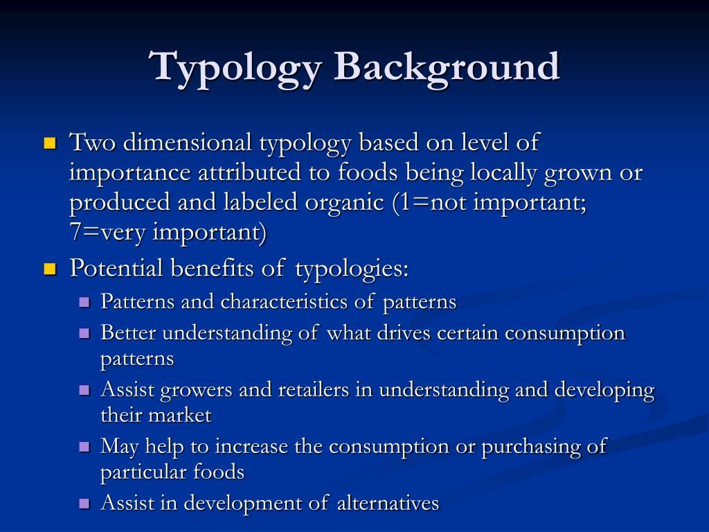 Typology Background