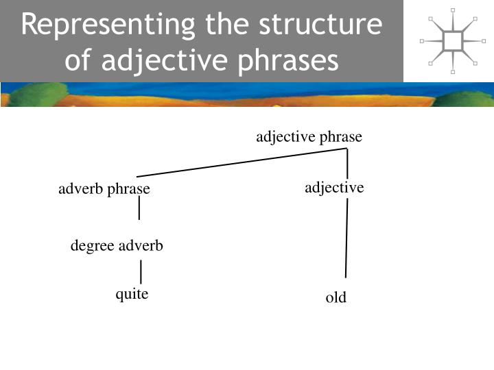 Representing the structure of adjective phrases