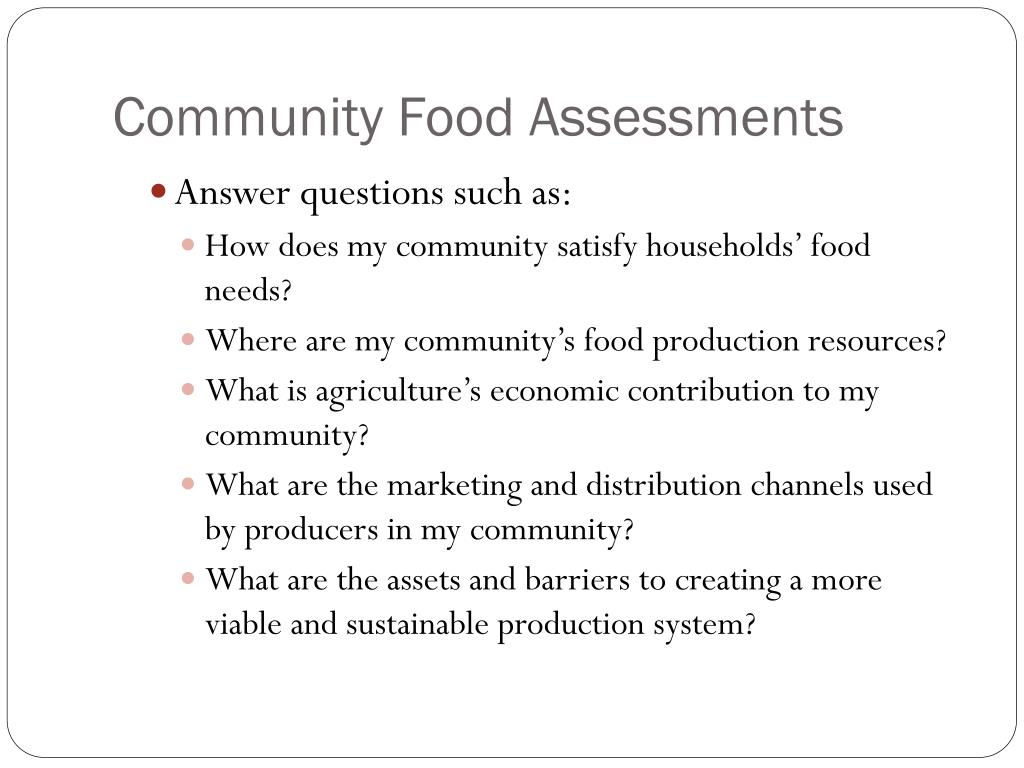 Community Food Assessments