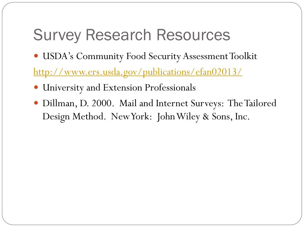 Survey Research Resources