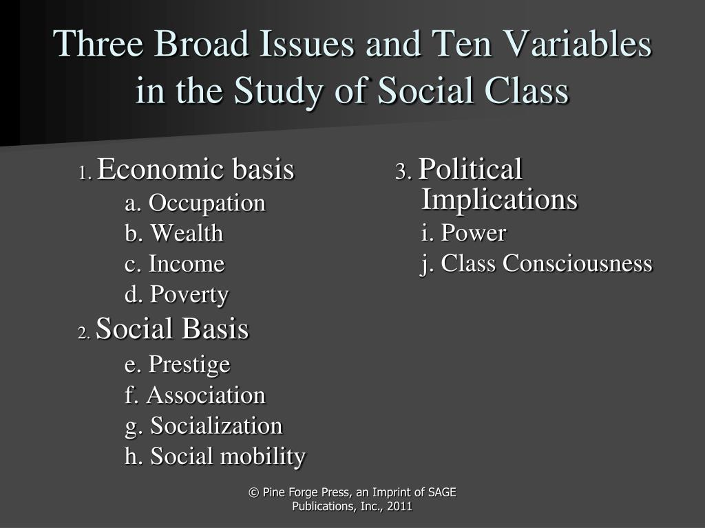 analysis of social class A social class is a group of people whom other members of the community see as equal to one another in social prestige and whom others believe to be superior or inferior in prestige to other groups that constitute the social classes below them or above them (warner).