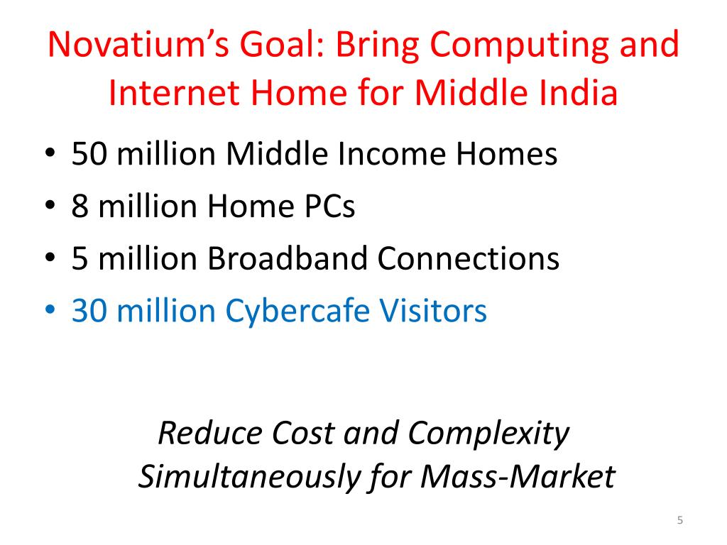Novatium's Goal: Bring Computing and Internet Home for Middle India