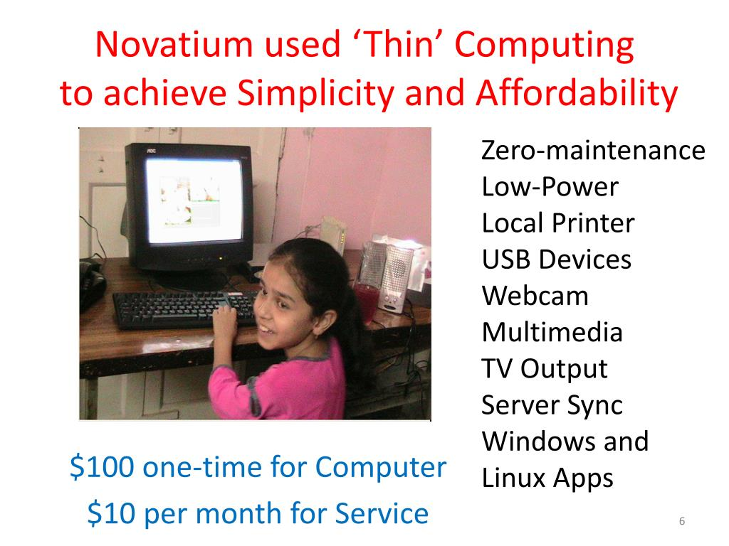 Novatium used 'Thin' Computing