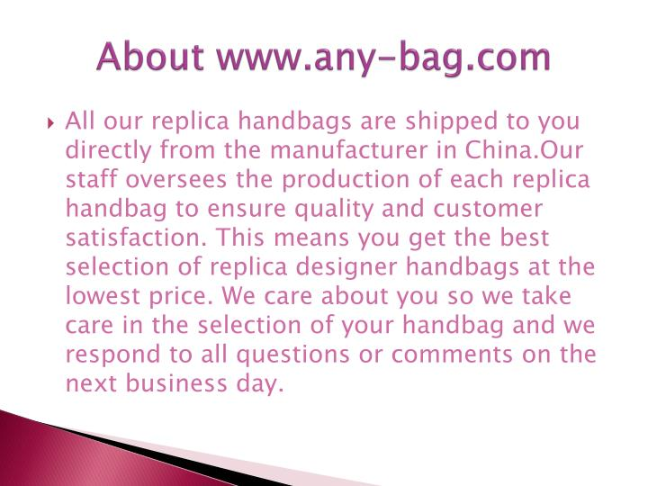 About www any bag com