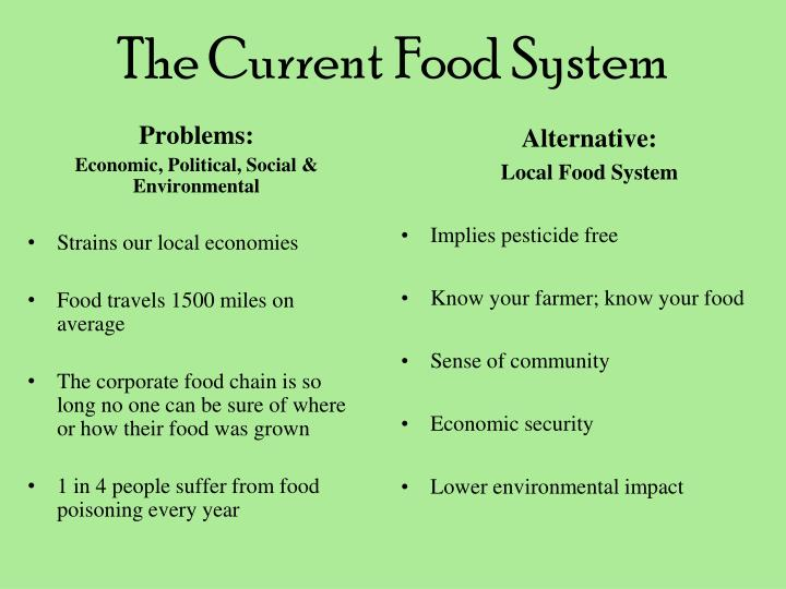 The current food system