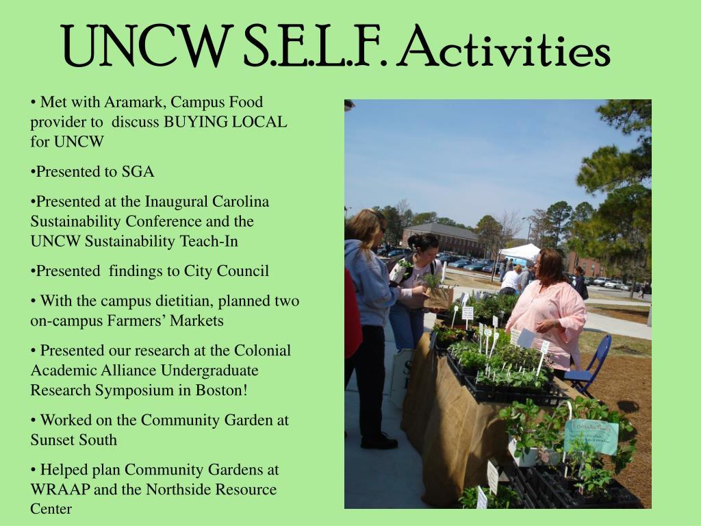 UNCW S.E.L.F. Activities