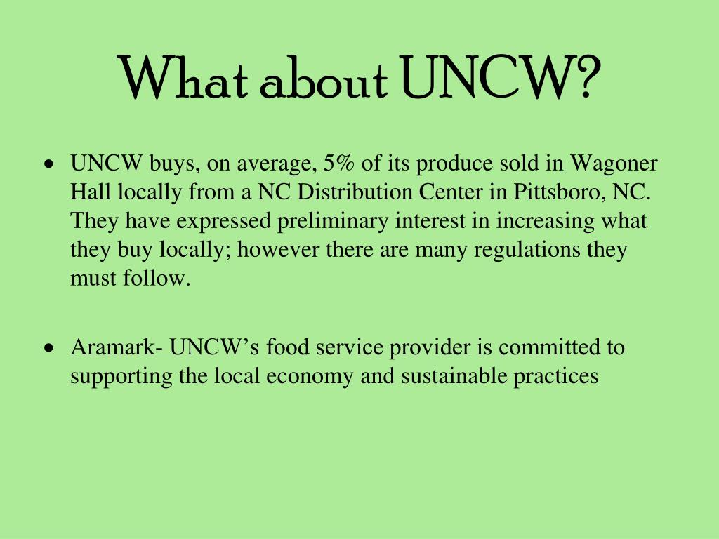 What about UNCW?