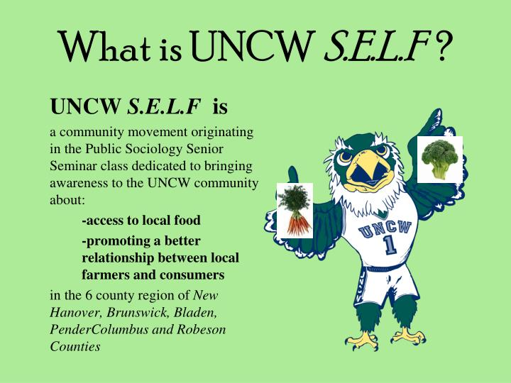 What is uncw s e l f