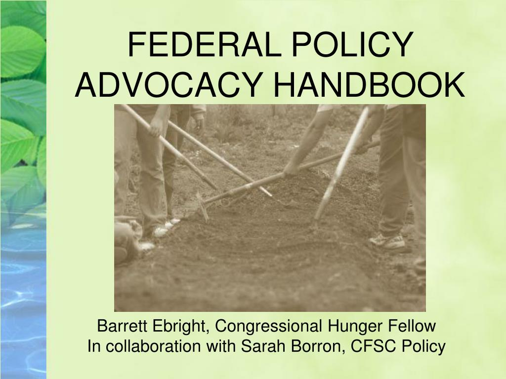 FEDERAL POLICY