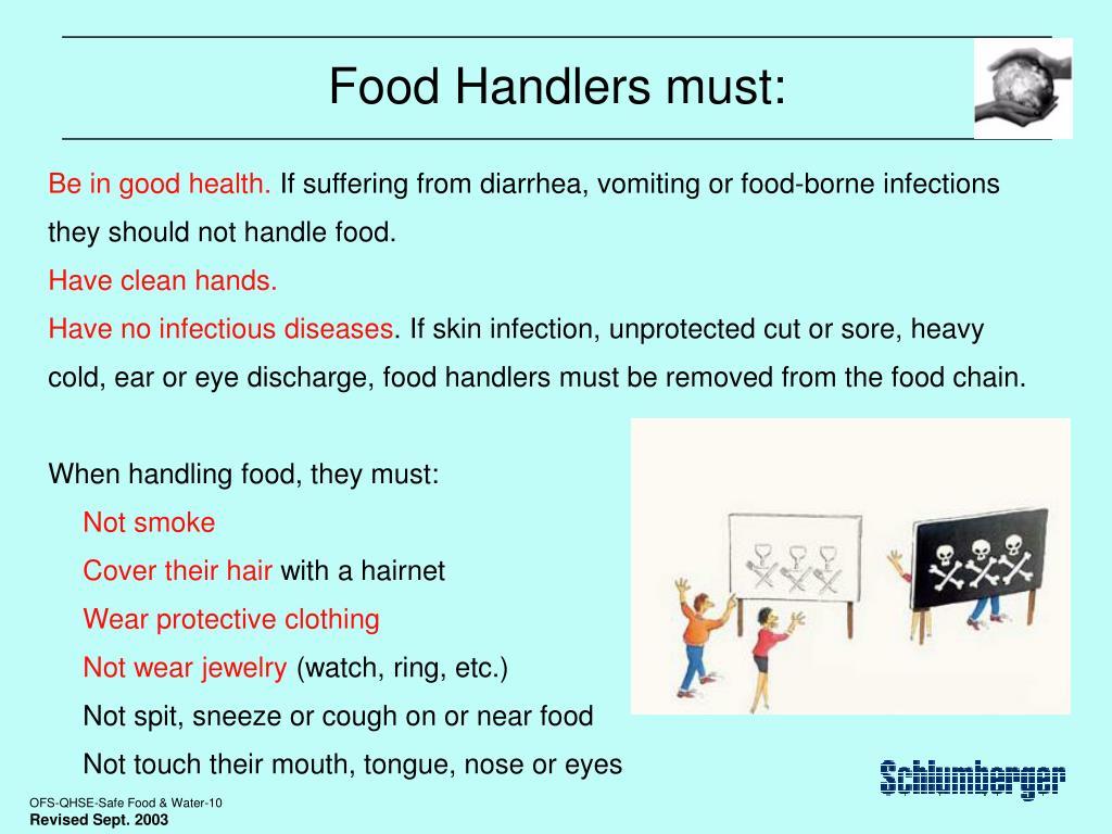 Food Handlers must: