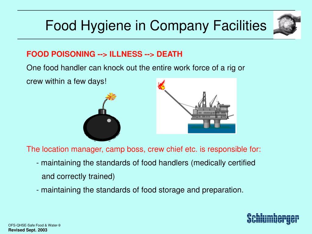 Food Hygiene in Company Facilities